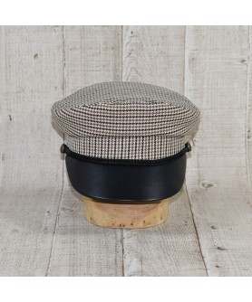 Cap Model Driver Tweed Khaki with Black