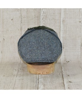 Cap Model Country Flat Slate Tweed Blue With Khaki
