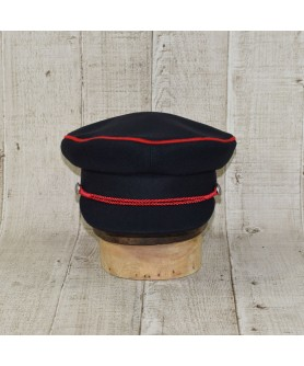 Cap Model Driver Navy With Red Edging