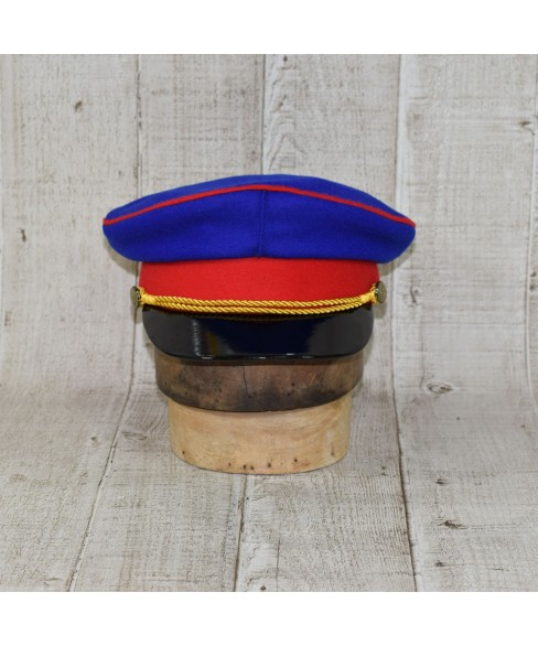 Cap Model Royal Blue Prusac with Red Edging