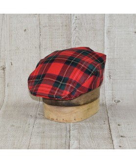Cap Model Classic Tartan Mc Farlane Red With Blue