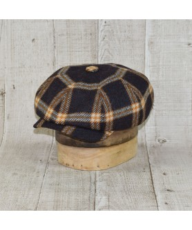 Cap Model Newsboy Peaky Blinders Brown Ribbon Brown With Yellow Gold