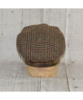 Cap Model Classic and Scarf Heritage Brown and Beige