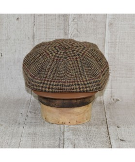 Cap Model Gavroche Peaky Blinders and Scarf Heritage Brown and Beige