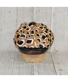 Cap Model Gavroche Leopard Print