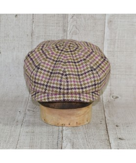 Cap Model Gavroche Peaky Blinders and Scarf Tweed Beige And Khaki