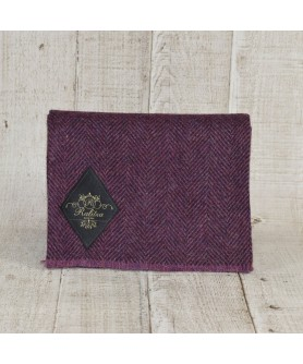 Purple With Brown Scarf