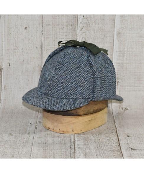 Hat Model Deerstalker (Sherlock Holmes) Slate Tweed Blue and Khaki