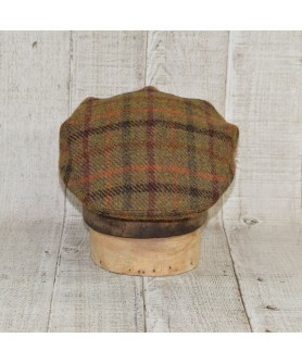 Cap Model Classic Tweed Khaki and Bordo Checkers