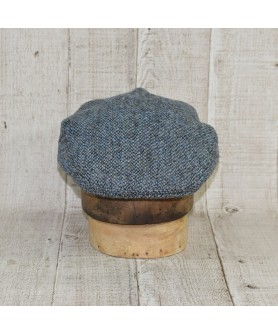 Cap Model Classic With Scarf Slate Tweed Blue and Khaki